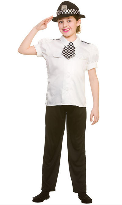 Policewoman Girls Costume