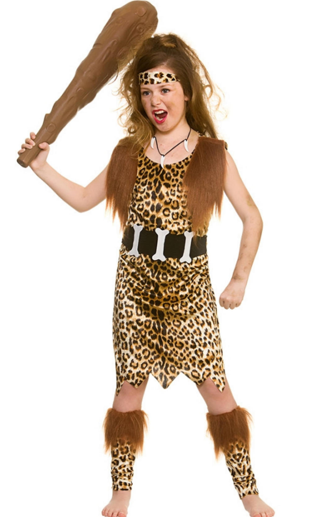 Stone Age Cave Girl Kids Costume  Girls World Book Day -9866