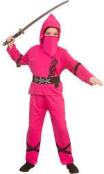 Power Ninja Pink Kid's Costume