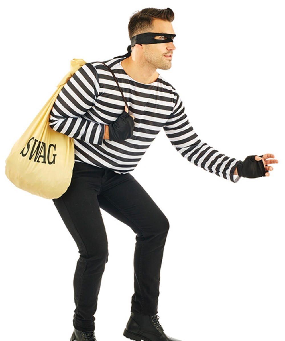 Adults Robber Costume  sc 1 st  Mega Fancy Dress & Adults Robber Costume | 20s and Gangster Costumes | Mega Fancy Dress