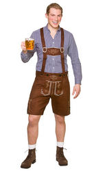 Authentic Suede Lederhosen Men's Costume Accessory