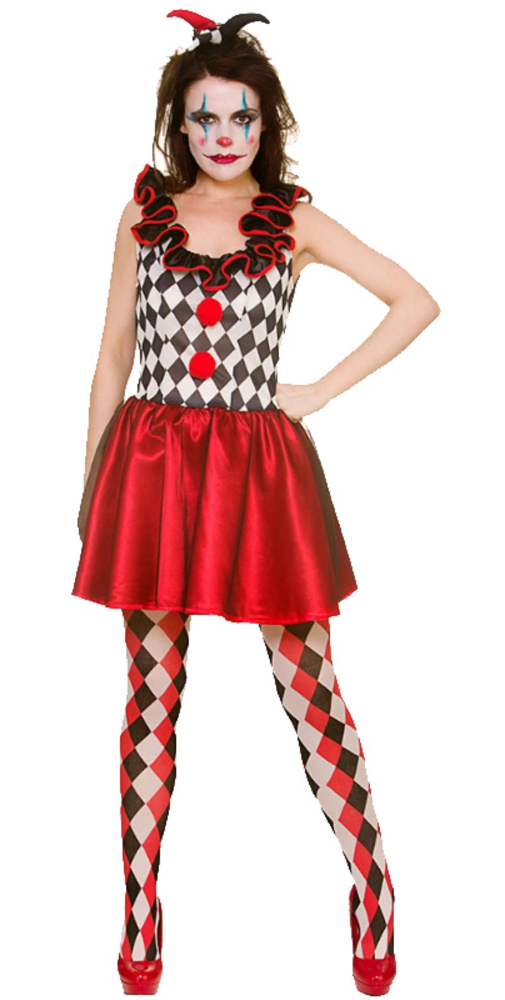 Harlequin Jester Ladies Costume