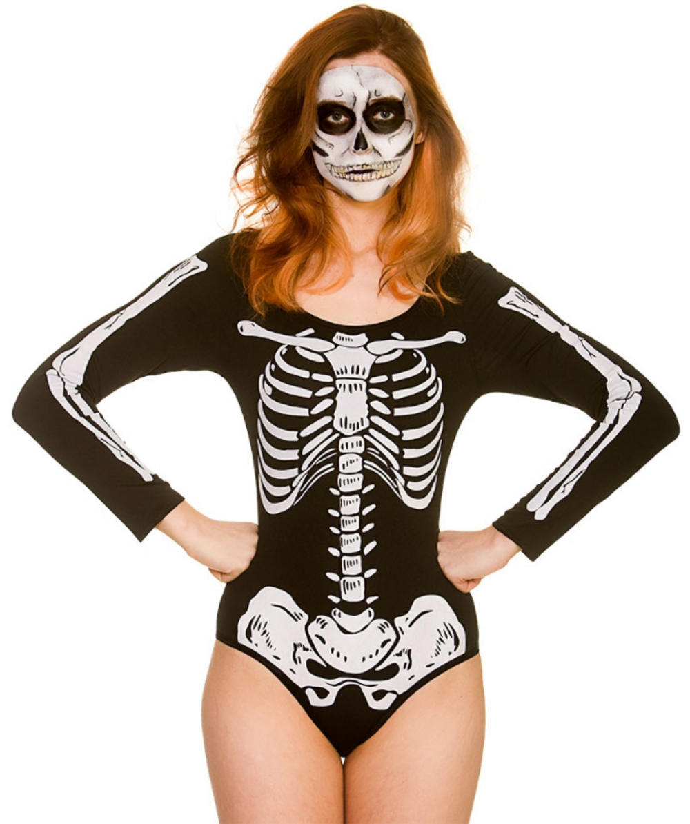 Skeleton Leotard Ladies Costume Accessory