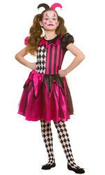 Freaky Jester Girl's Costume