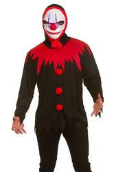 Killer Clown Shirt & Mask Men's Costume