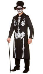 Day of the Dead Skeleton Mens Costume