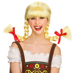 Funny Bavarian Beer Girl Ladies Wig