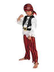 Boys Bandana Pirate Fancy Dress Costume