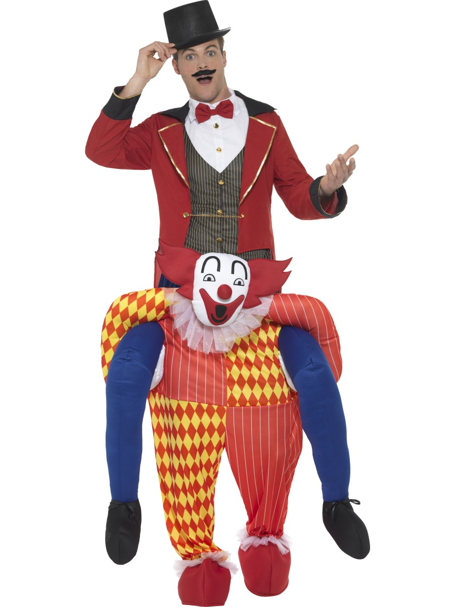 Piggyback Clown Costume Herren Karneval Kost 252 Me Mega