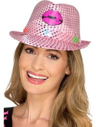 Light Up Sequin Hen Party Trilby Hat
