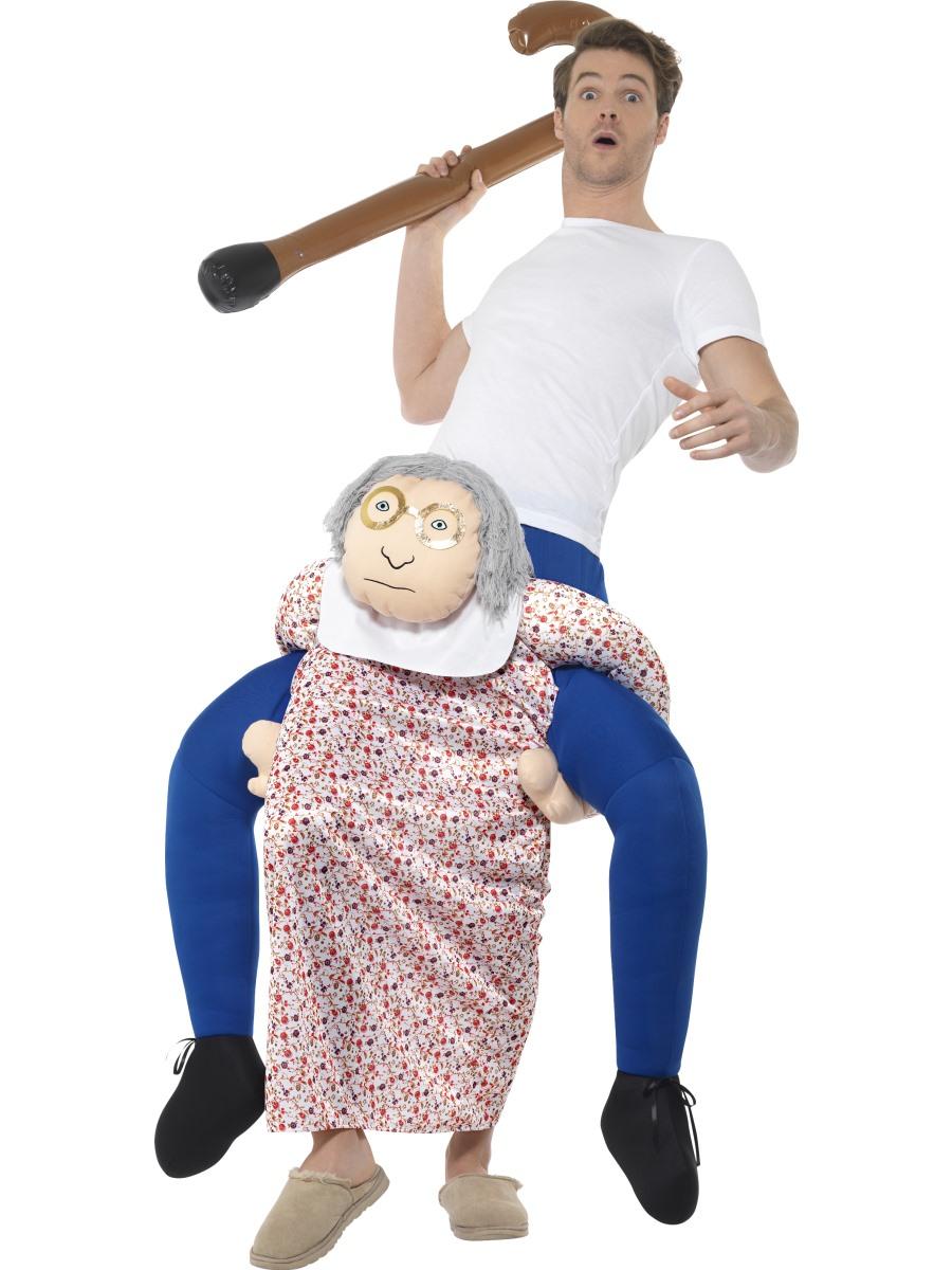 Piggyback Grandma Costume Fun Fancy Dress Mega Fancy Dress