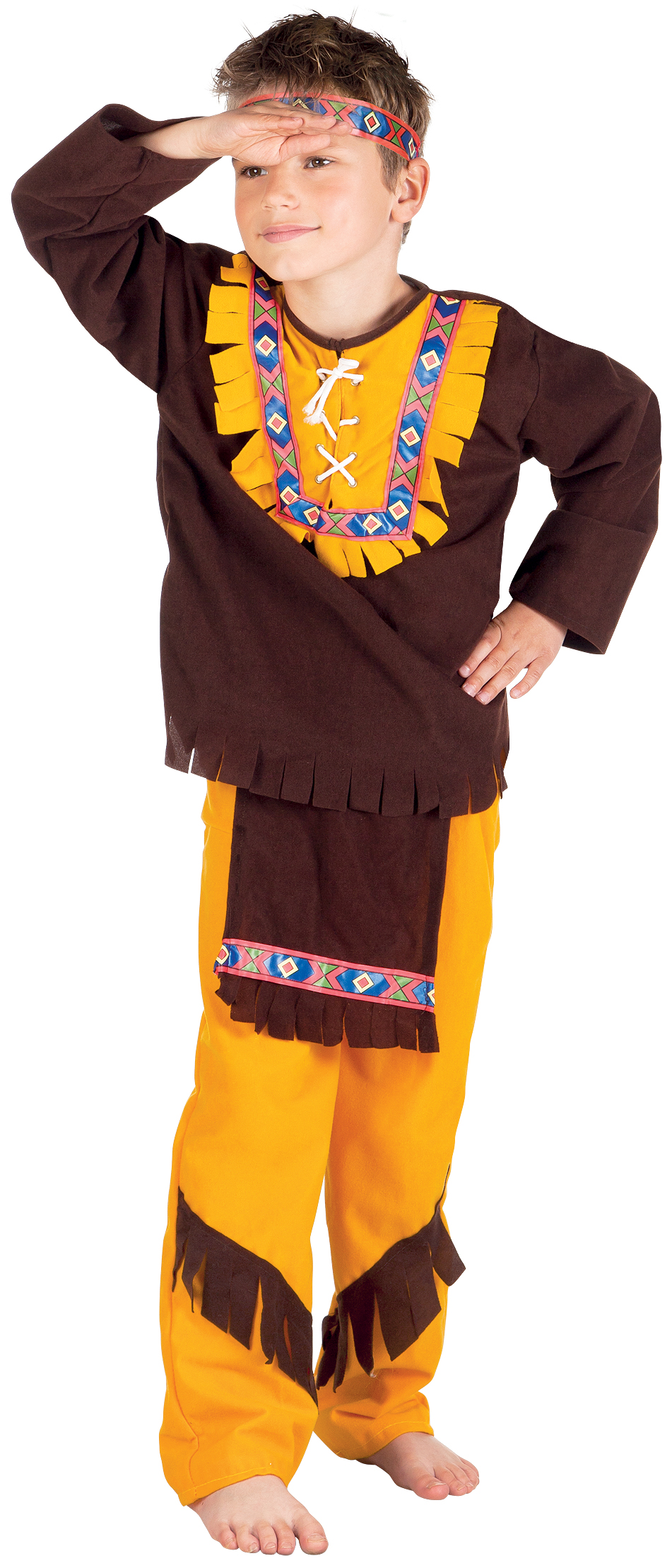 Sentinel Western Red Indian Kids Fancy Dress Wild West Native American Childrens Costumes  sc 1 st  eBay & Western Red Indian Kids Fancy Dress Wild West Native American ...