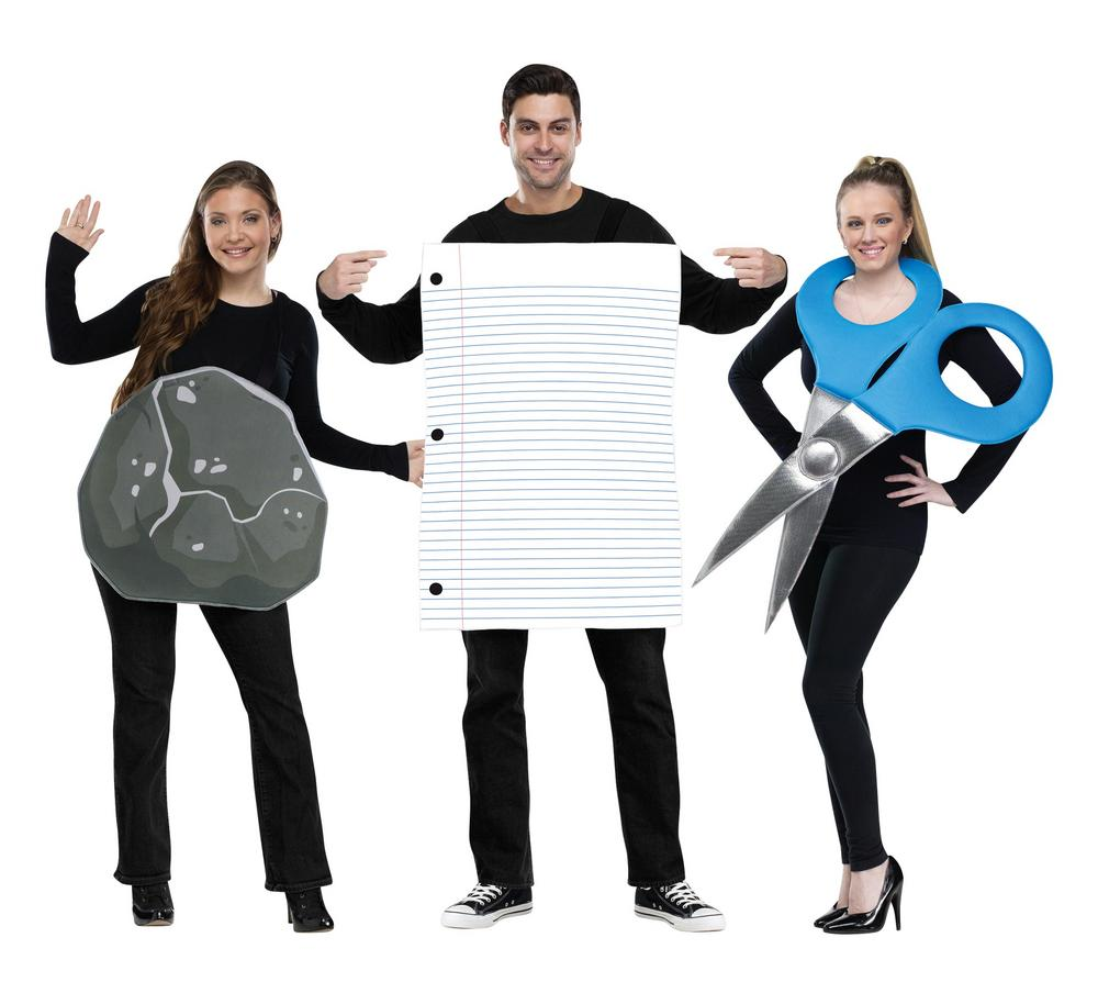 Rock,Paper,Scissor Adult Costume
