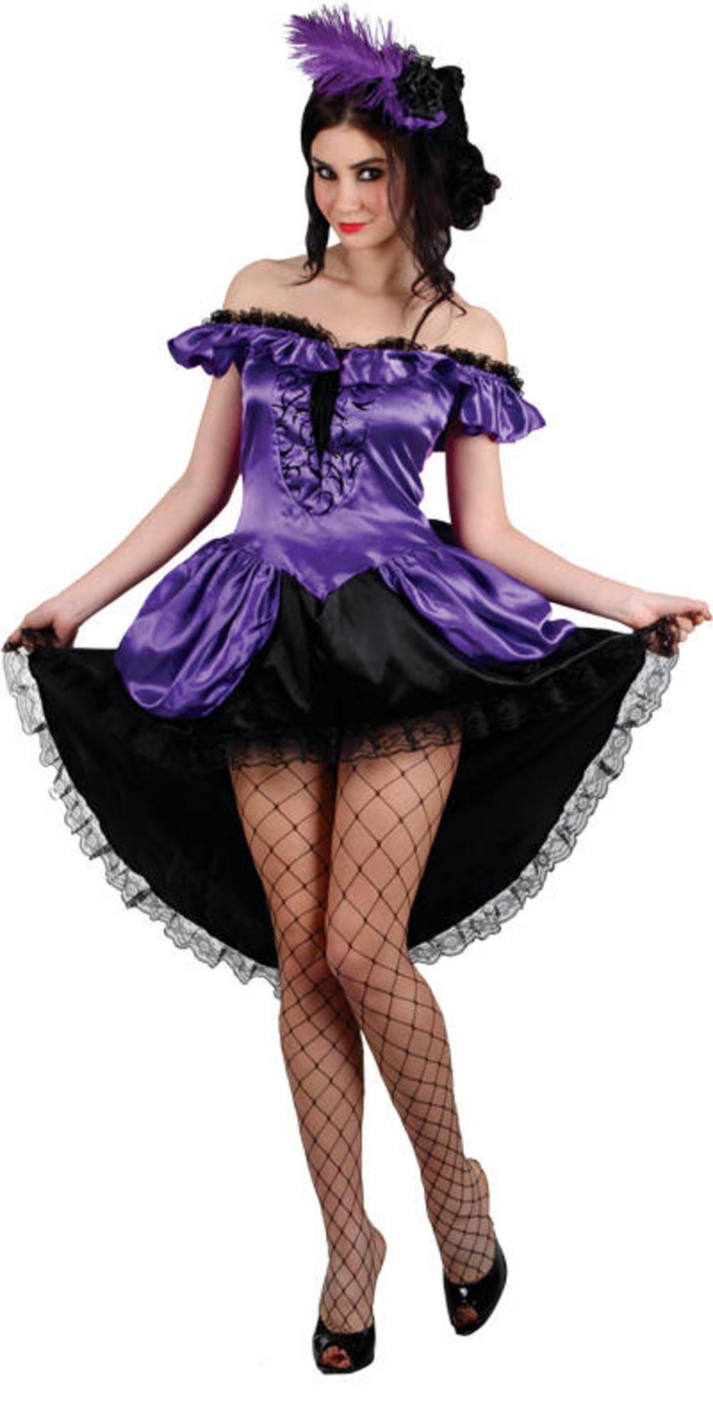 Ladies' Purple Burlesque Saloon Girl Fancy Dress