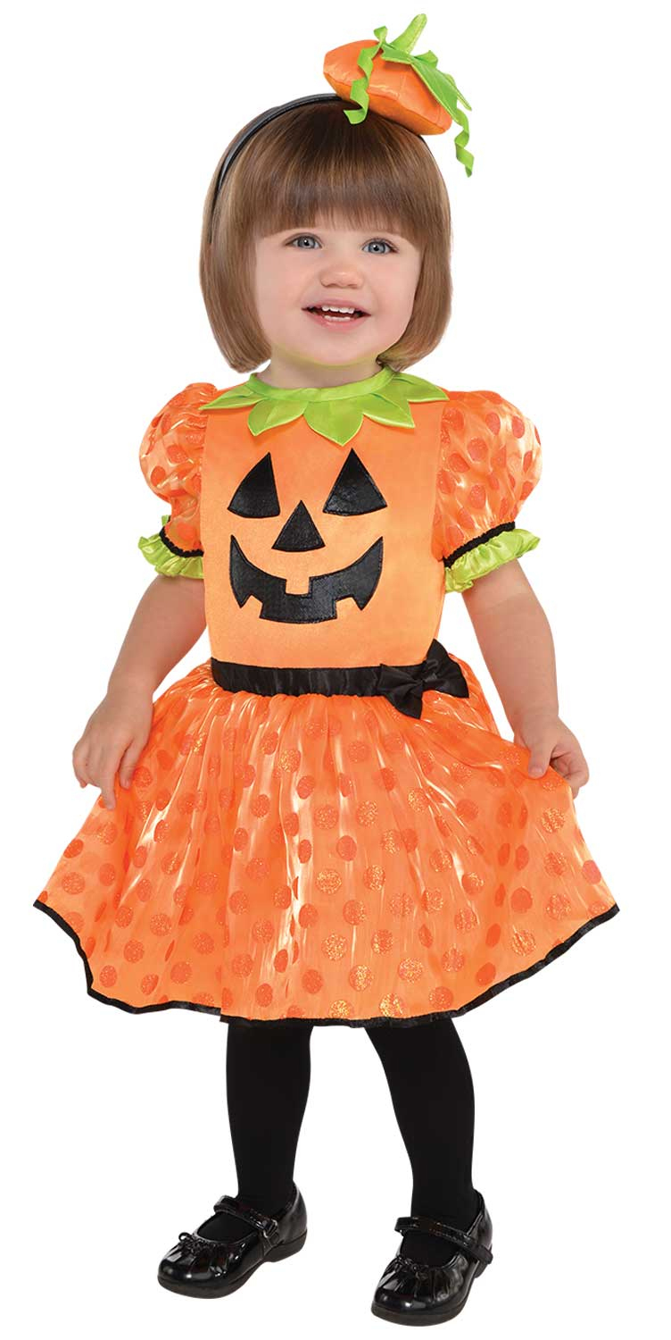 baby pumpkin 0-24 months infants fancy dress girls toddler halloween