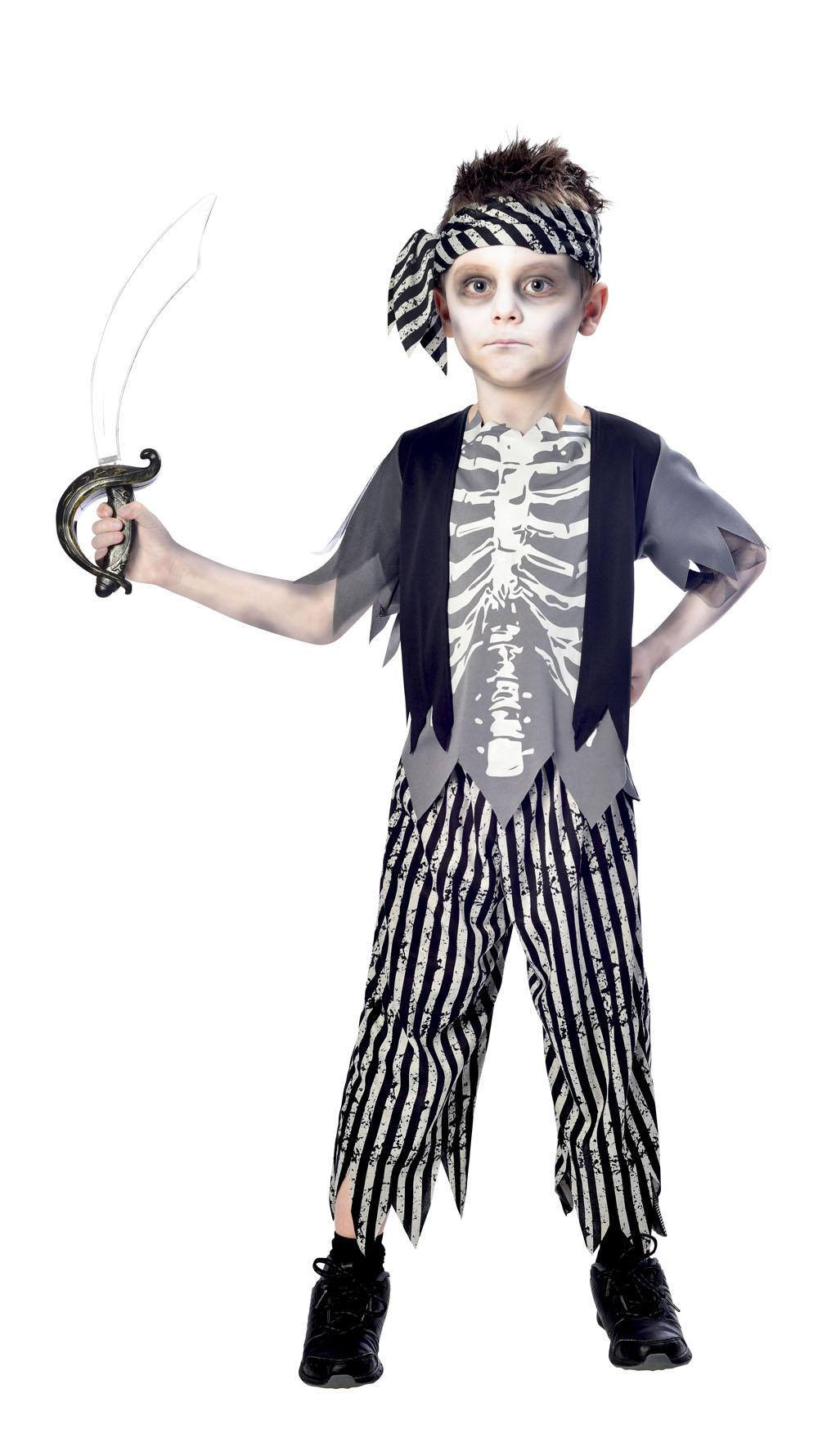 Zombie Pirate Boys Costume