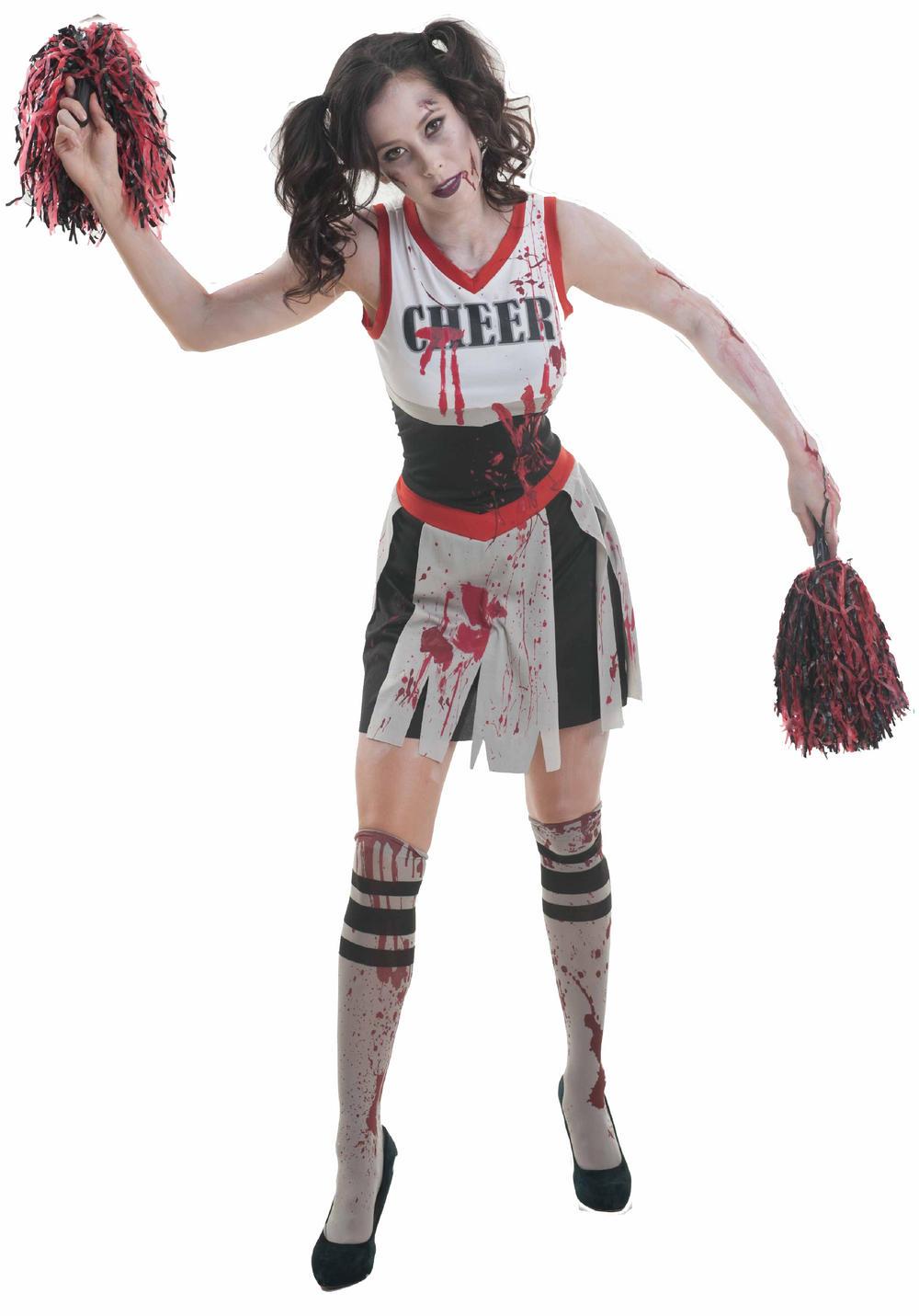 Zombie Cheerleader Ladies Fancy Dress
