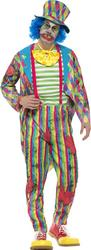 Deluxe Mens Patwork Clown Costume