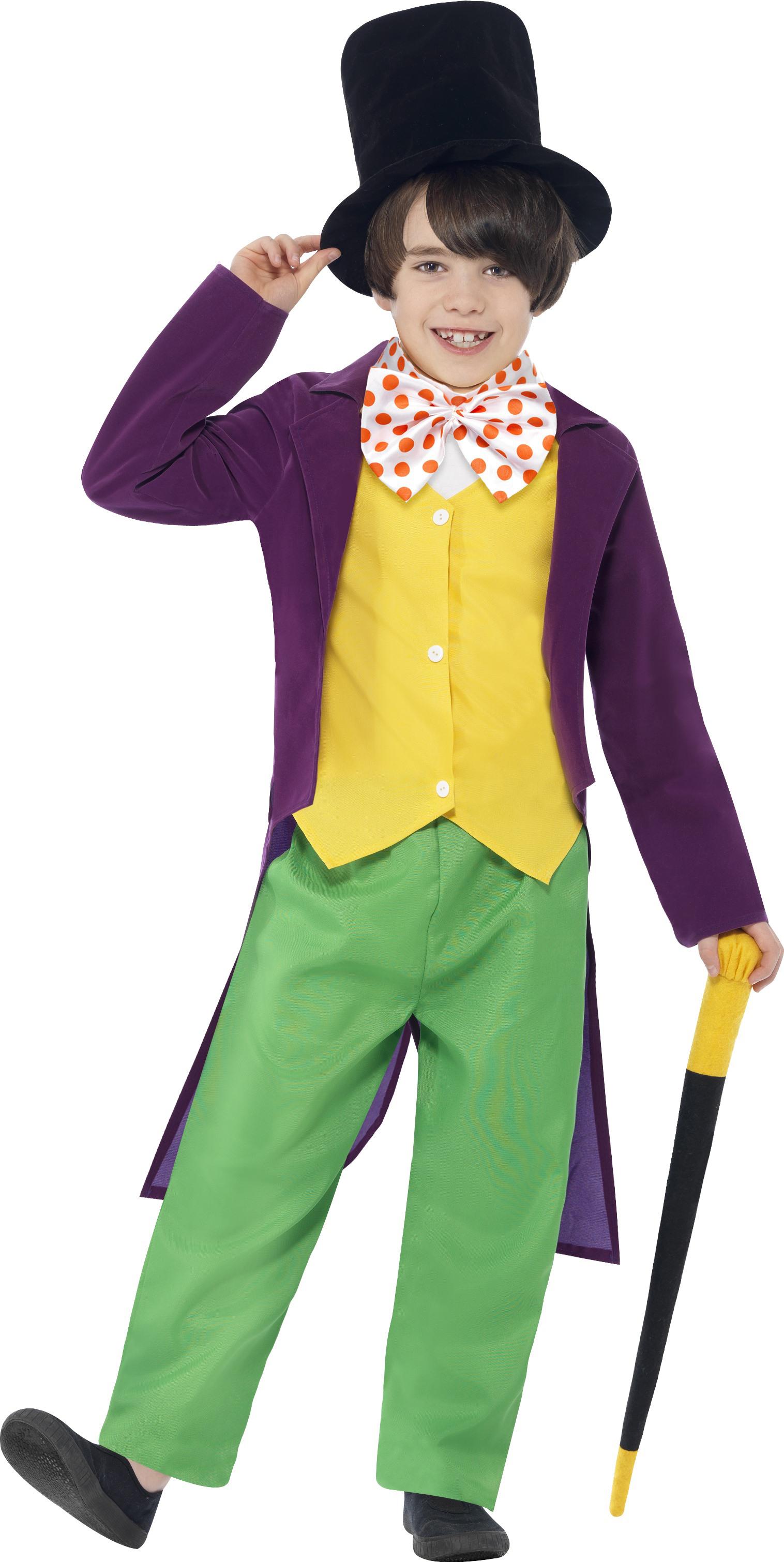 Good Sentinel Willy Wonka World Book Day Kids Fancy Dress Roald Dahl Boys  Character Costume