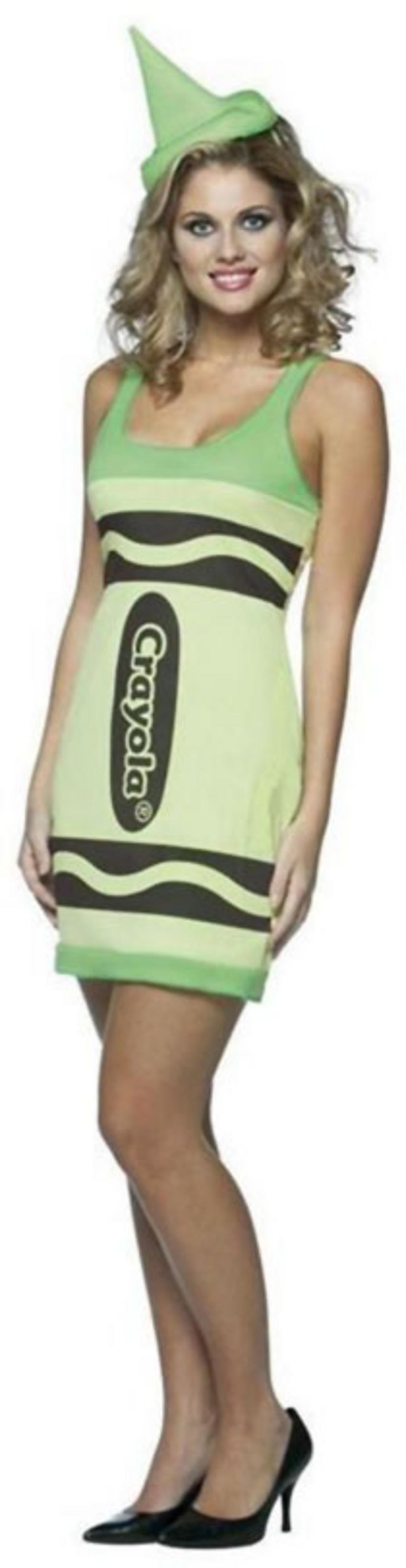 Crayola Green Yellow Crayon Dress
