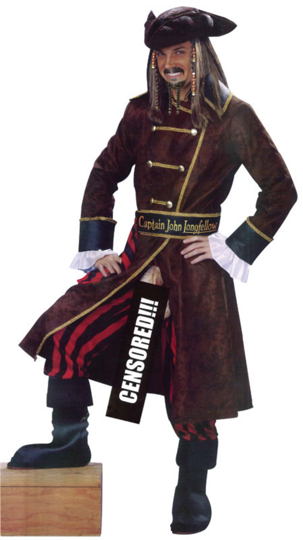 Captain John Longfellow Flashing Pirate Costume