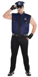 Plus Size Sexy Policeman Mens Costume