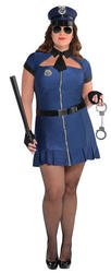 Sexy Plus Size Ladies Police Costume