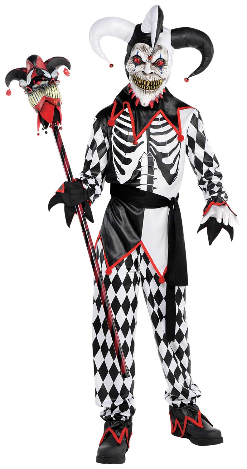 Evil Clown Circus Performer Halloween Kids Childs Fancy Dress Costume