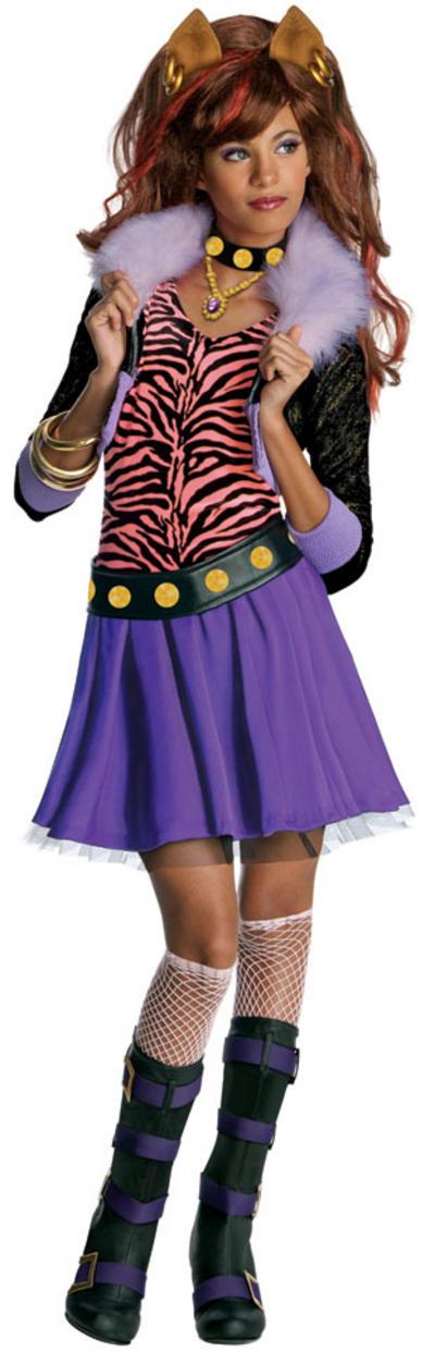 Girls Clawdeen Wolf Monster High Costume