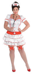 Sexy Curvy Ladies XL Nurse Costume