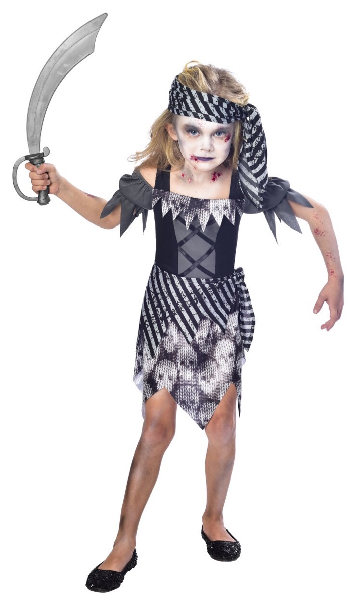 zombie pirate kids fancy dress undead buccaneer halloween childrens