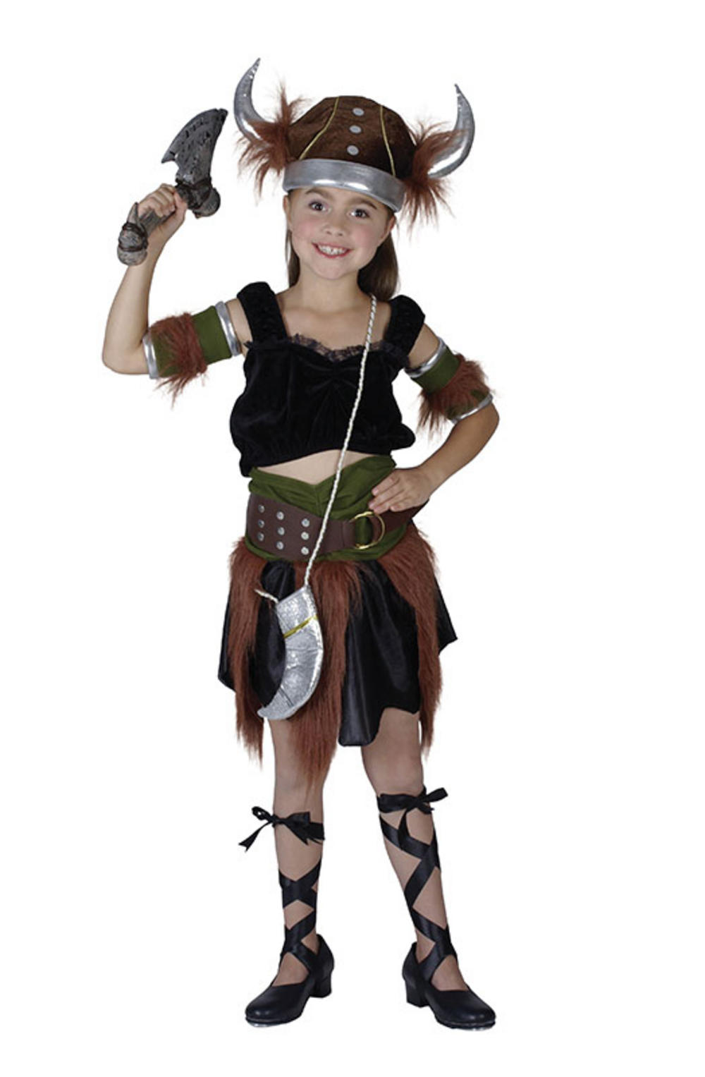 Viking Warrior Girl Costume | National Dress Costumes | Mega Fancy Dress