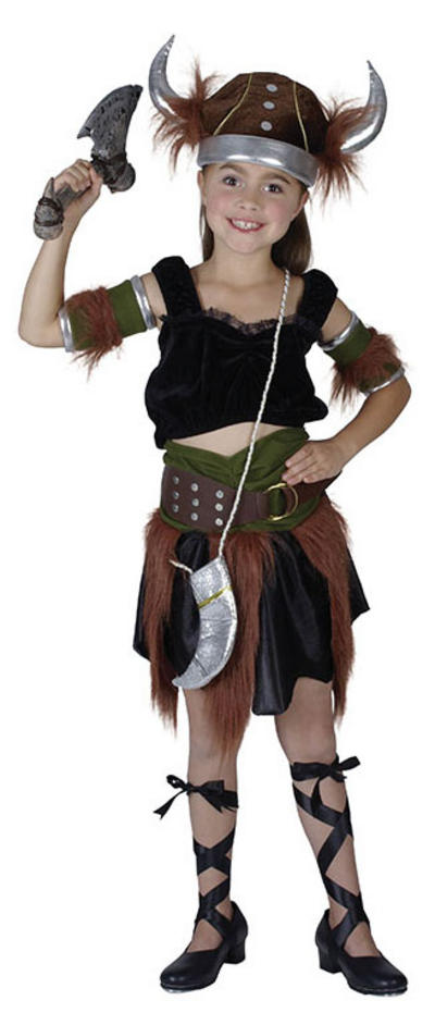 Viking Warrior Girl Costume