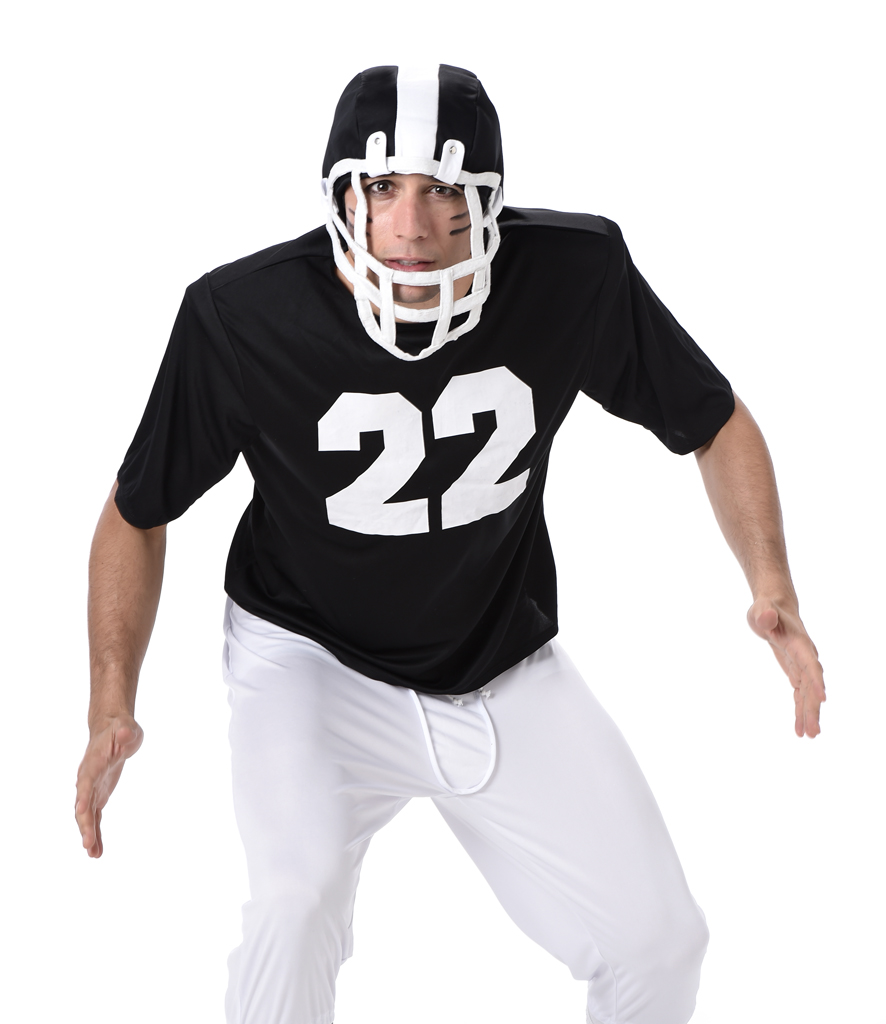 USA Superbowl Mens Fancy Dress American Football Rugby Sports Adults Costume New