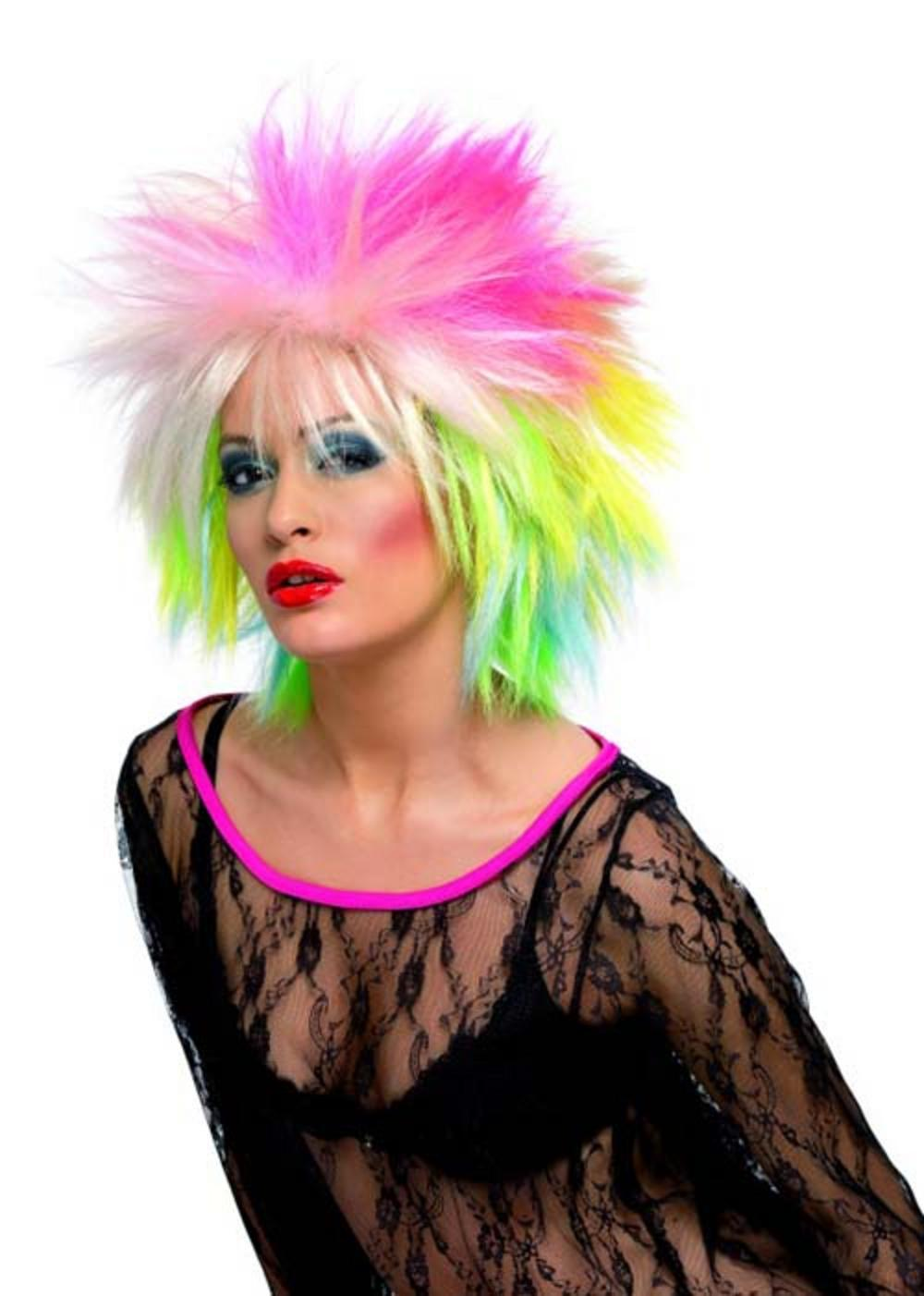 80s Multicoloured Punk Cute Wig
