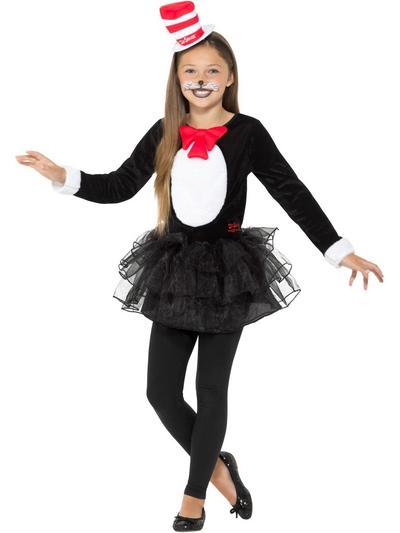 Dr Seuss Cat in the Hat Girls Costume