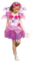 Fuchsia Fairy Girls Costume