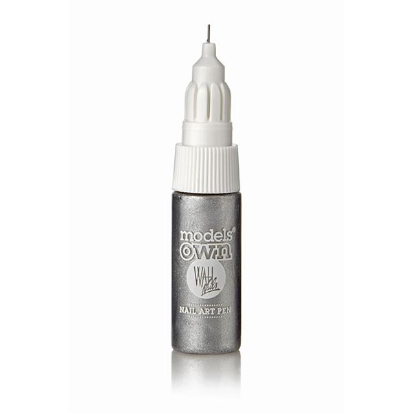 Models Own Nail Art Pen Silver 6ml With Fine Line Brush Thin Nib