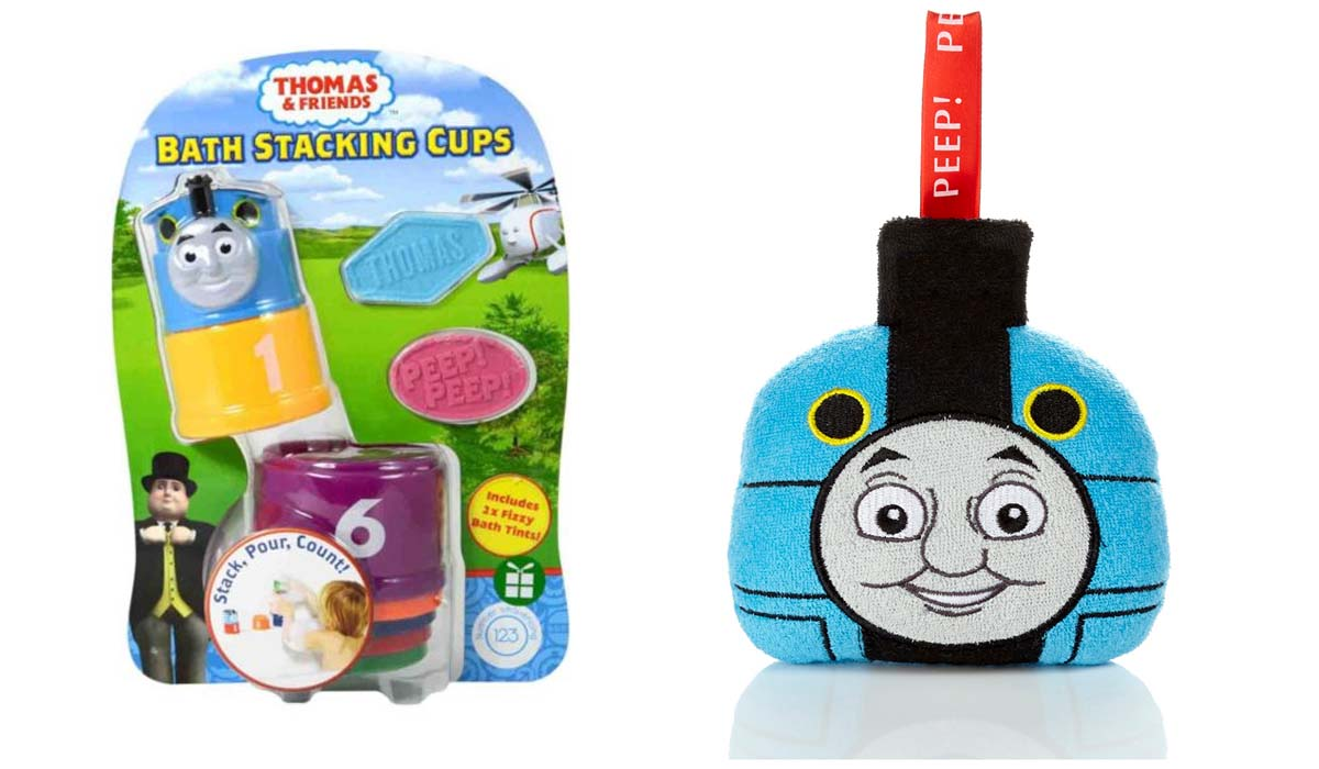 Thomas & Friends Bath Bundle Includes Bath Stacking Cups & Wash Pal ...