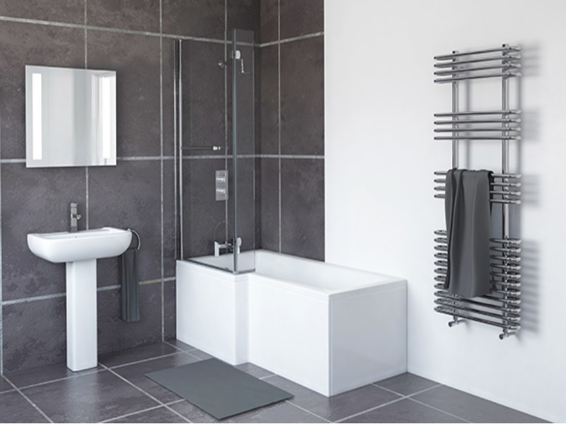 White 1700mm L Shaped Bath Left Hand And Right Hand Acrylic Bath ...