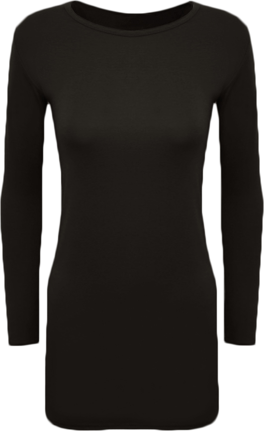New Ladies Plus Size Bodycon Stretch Long Sleeve Dress Womens Plain