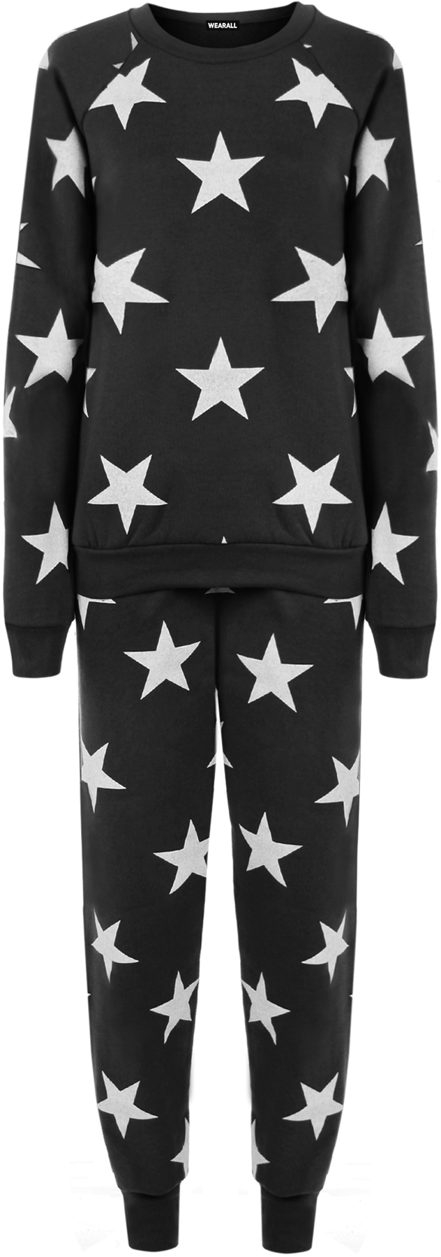 neu damen star druck sweatshirt joggers trainingsanzug. Black Bedroom Furniture Sets. Home Design Ideas