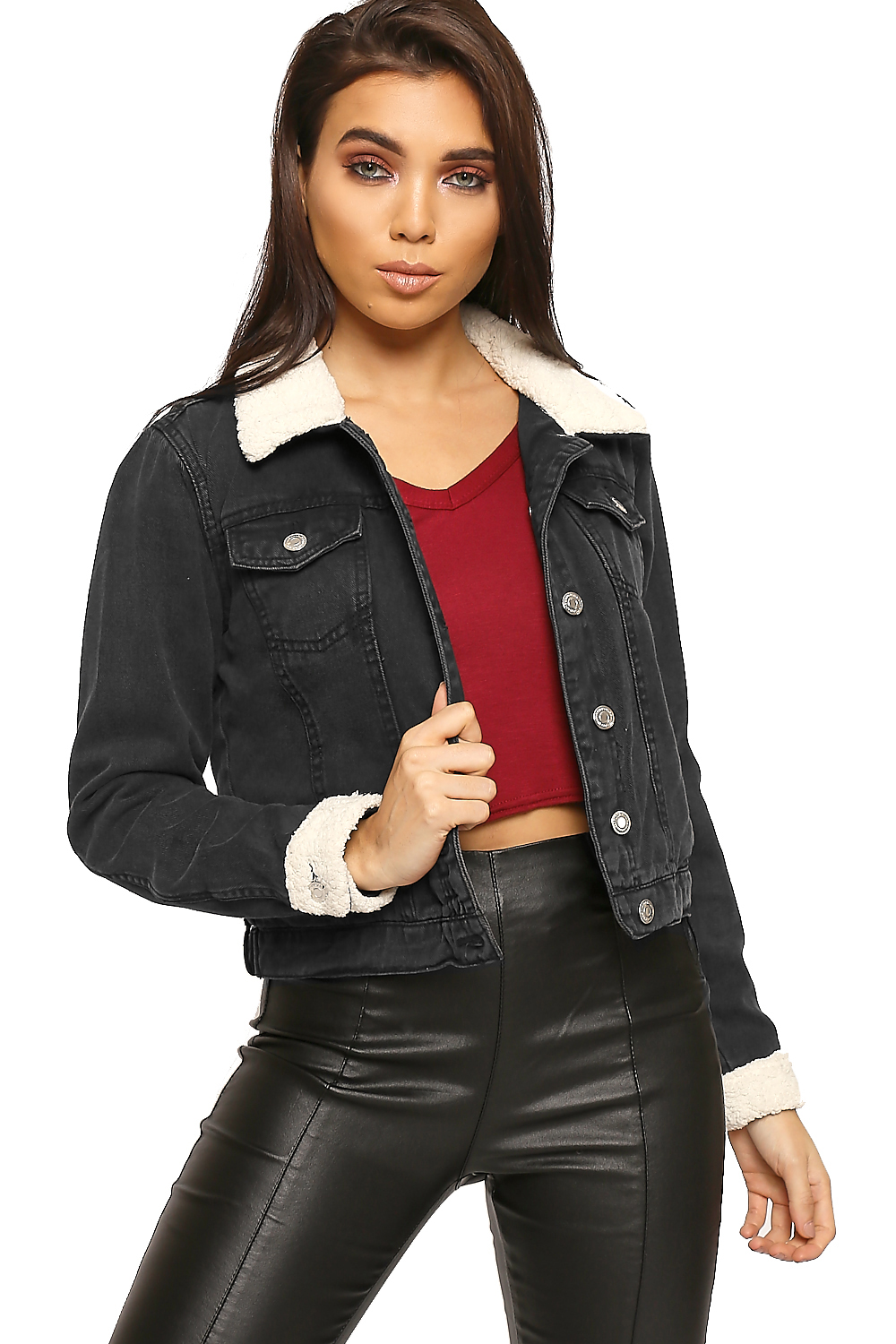 Ladies Denim Jackets. The spontaneous look of ladies denim jackets is forever fashionable, whether the look of the jacket is cropped or longer, darkly colored or lightly colored. Available in an assortment of styles, from dark wash denim to acid wash denim, ladies denim jackets make all of the looks in your wardrobe seem edgier.