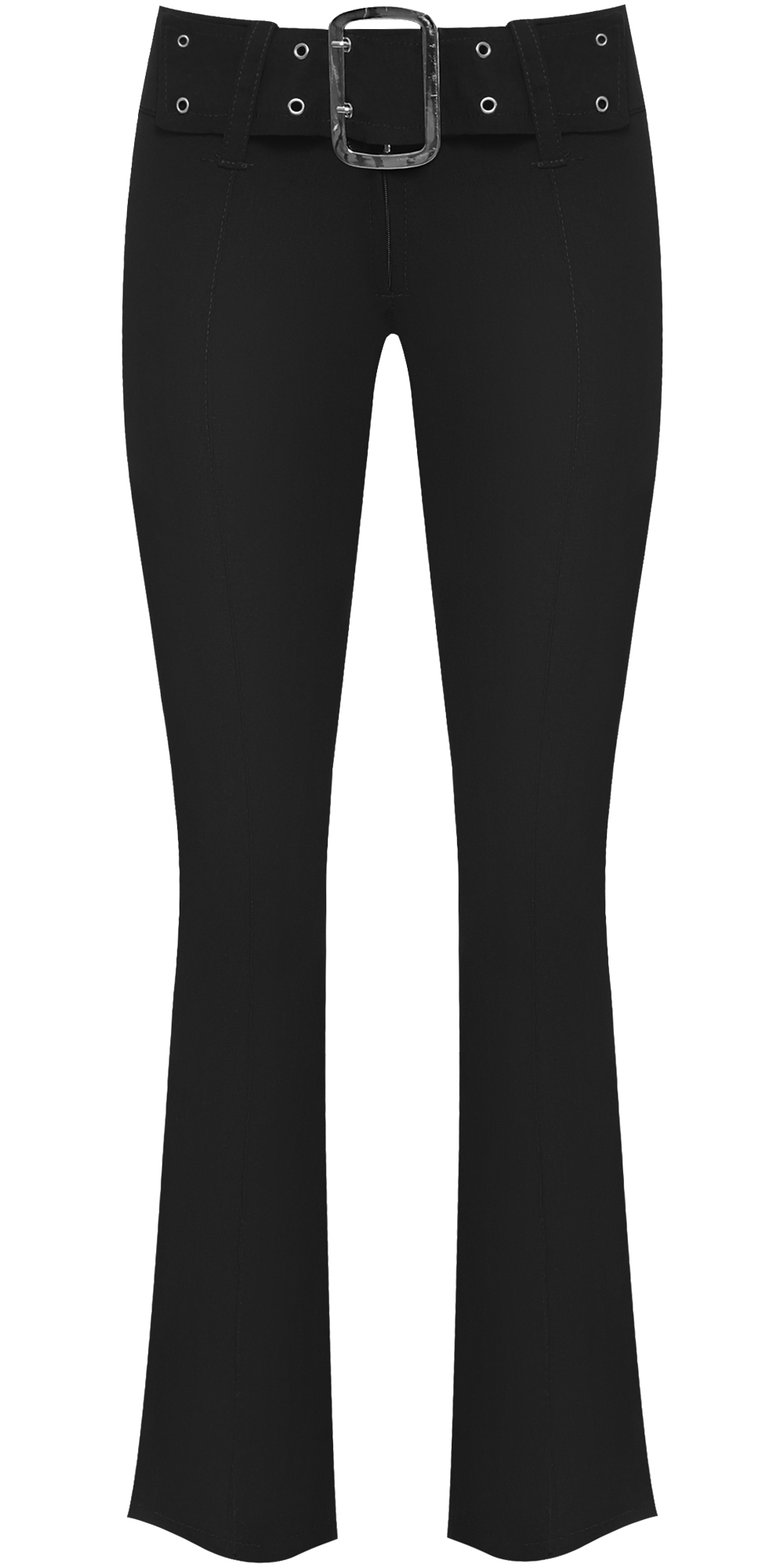 e149319fe0a New Womens Plain Black Hipster Ladies Stretch Bootcut Skinny Trousers Pants  6-16