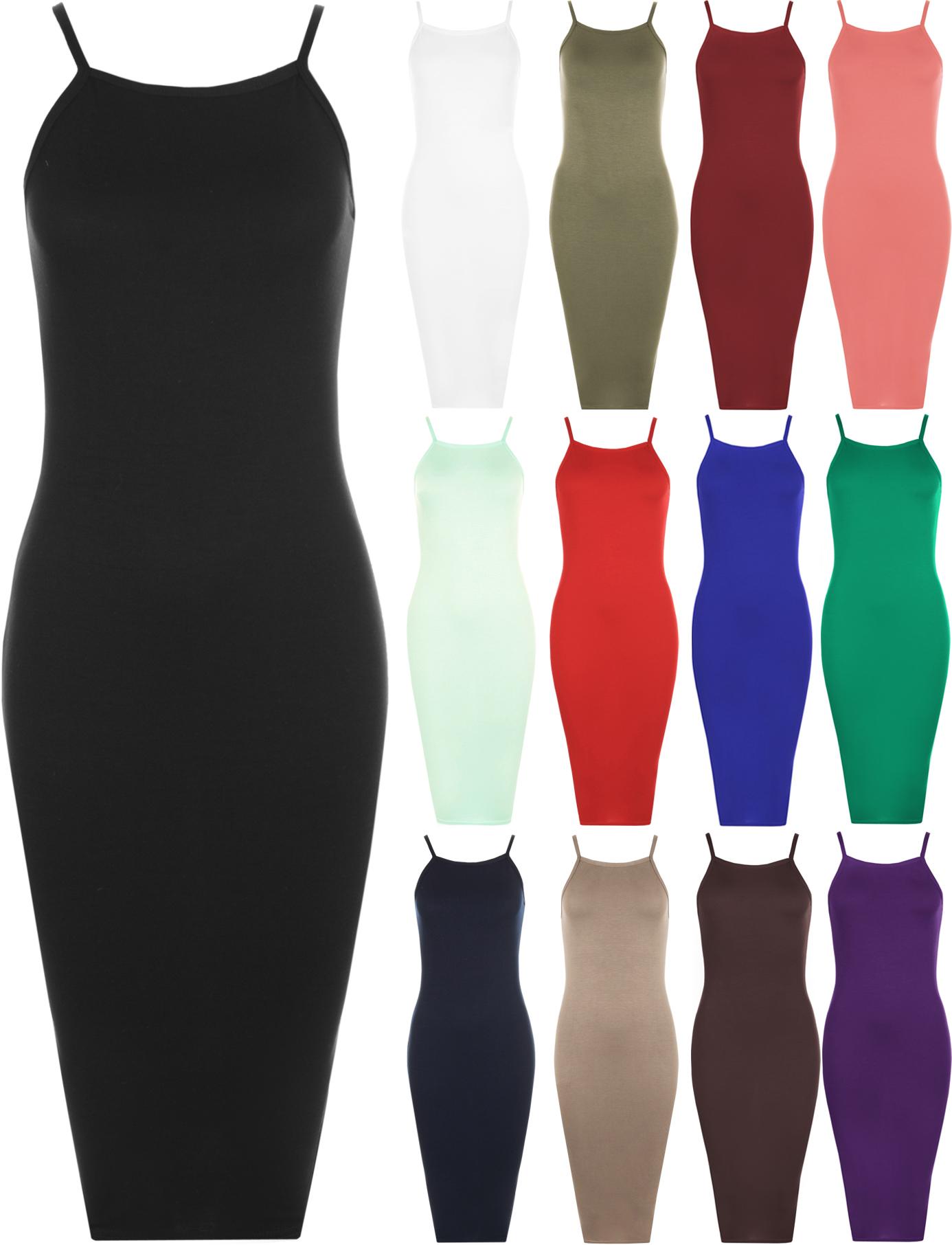 For curvy Sleeveless Dresses Bodycon Plain Neck High york