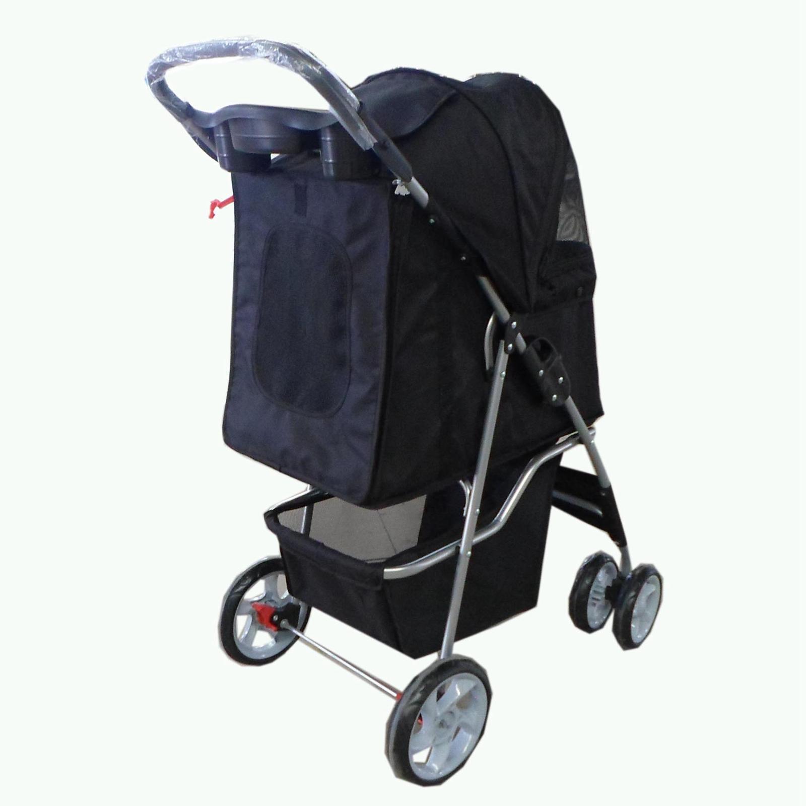 Pet Travel Stroller Pushchair Pram Jogger For Dogs Puppy