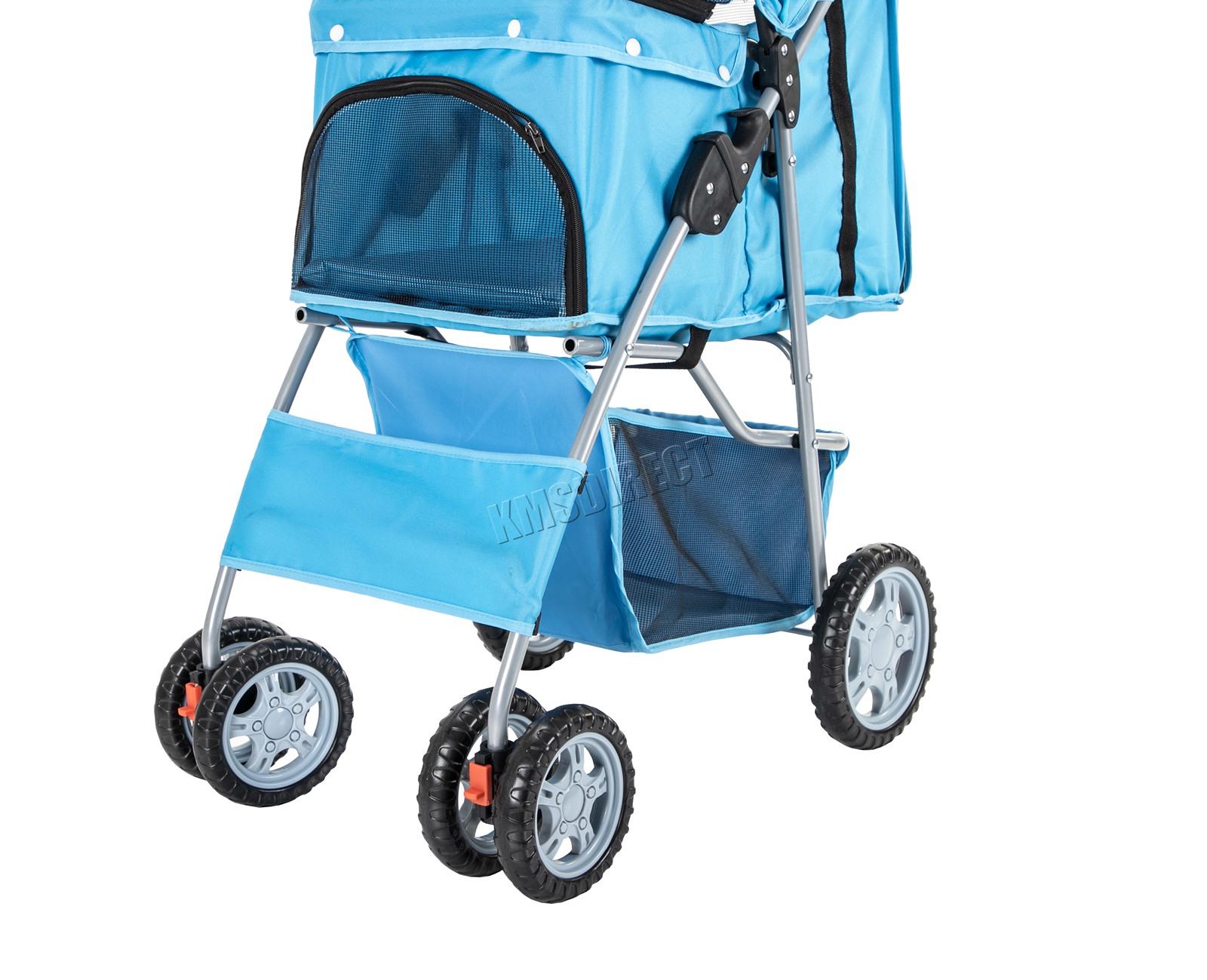 Pet Stroller - Dog Puppy Cat Pram - Travel Buggy Pushchair ...