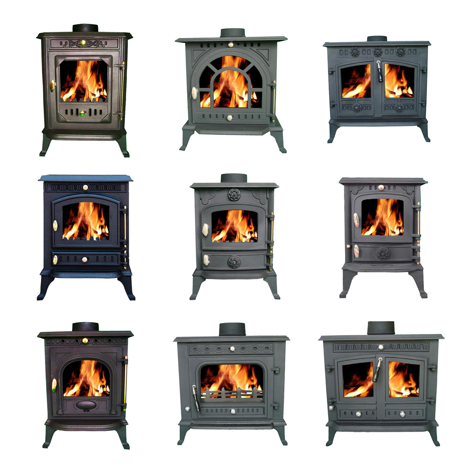 foxhunter cast iron log burner multifuel wood burning stove