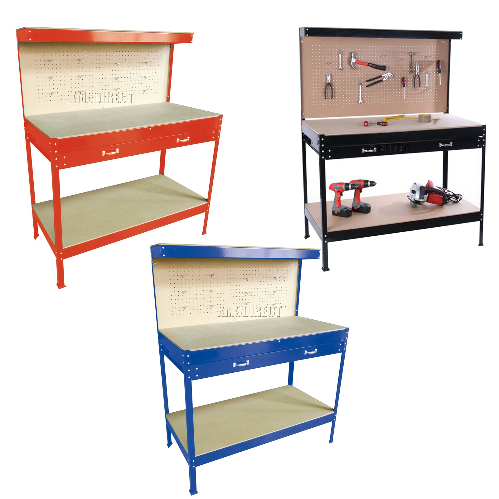 Westwood Steel Garage Tool Box Work Bench Storage Pegboard