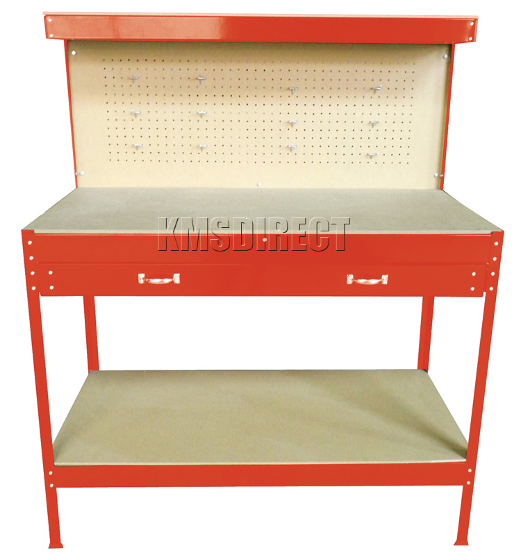 New Red Steel Tools Box Workbench Garage Workshop Table